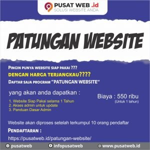 Program patungan Website